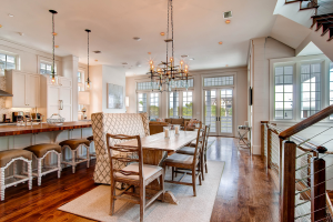Rosemary Beach house dining room and family room