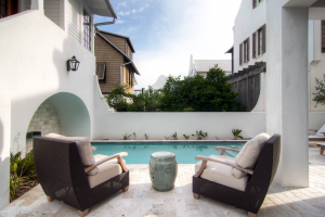 Rosemary Beach house outdoor pool furniture