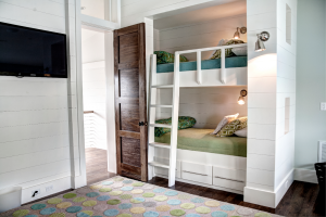Rosemary Beach house girls bedroom photo showing bunk bed details