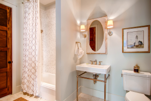Rosemary Beach house guest bathroom