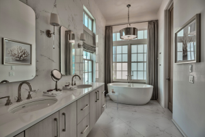 Alys Beach house master bathroom bathtub