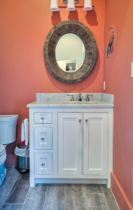 Inlet Beach house bathroom with mirror