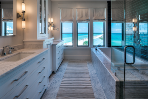 Inlet Beach house marble bathtub
