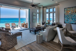 Inlet Beach house ocean view living room