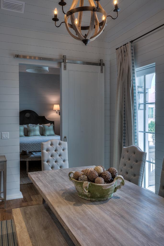 30A beach house small dining room door