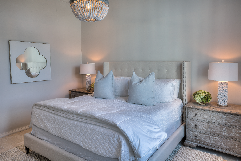 30A beach house bedroom with breeze bed