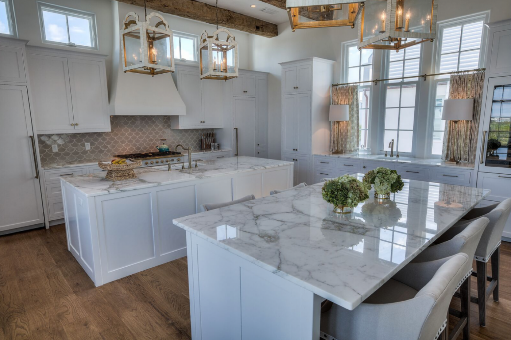 30A beach house kitchen counter seating