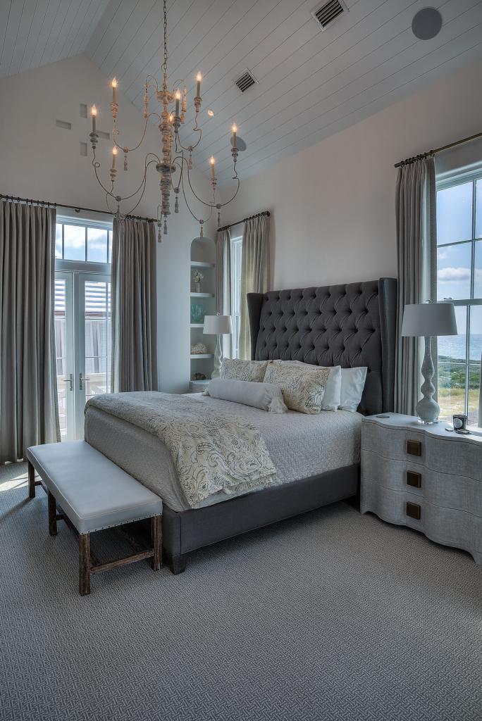 30A beach house master bedroom