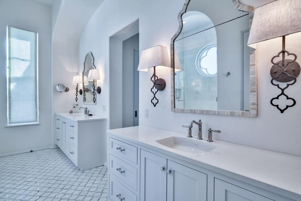 30A beach house bathroom sink areas