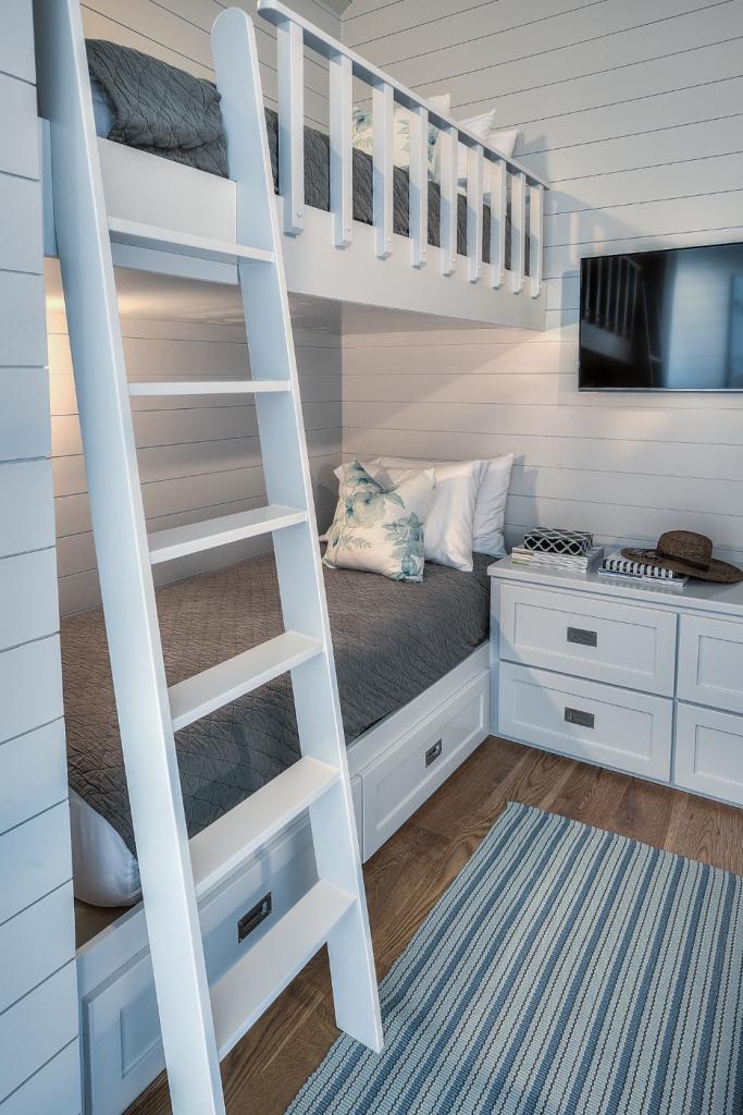 30A beach house girls bunk room