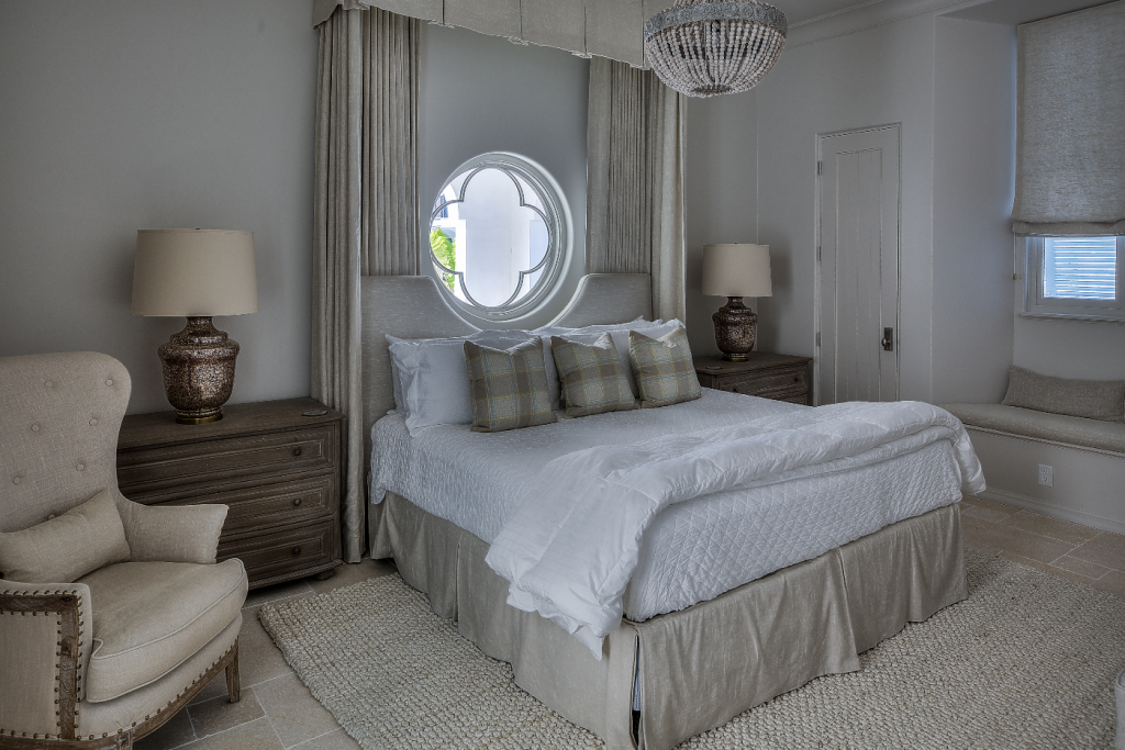 30A beach house bedroom with canopy bed