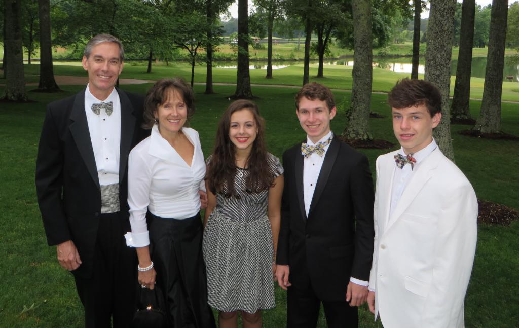 Joanne FitzGerald's family in 2016