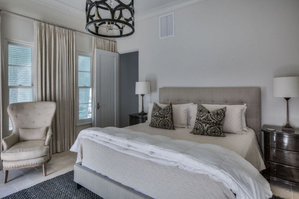 30A beach house guest bedroom