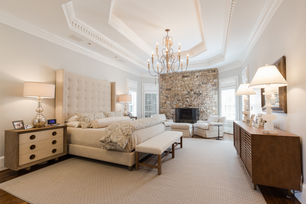 Roswell Georgia Master Bedroom Interior Design